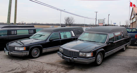 Hearse, Mortuary Wagon, and Other Funeral Vehicles on