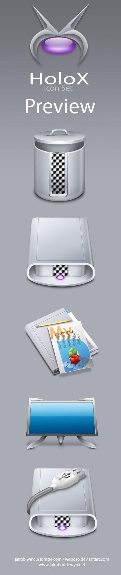 Holox Icon Set Preview