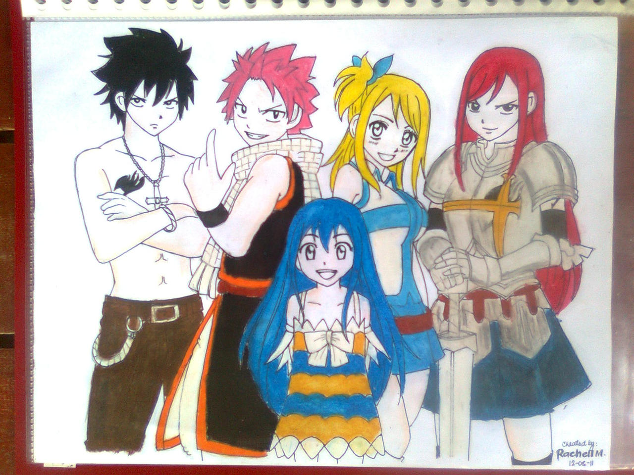 Natsu, Lucy, Gray, Erza and Wendy by rachellannmorada on ...