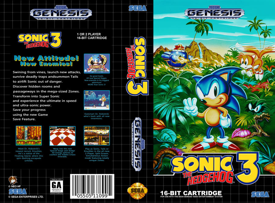 Vhs Genesis Sonic The Hedgehog 3 Cover Art By Neo The Hedgefox On Deviantart