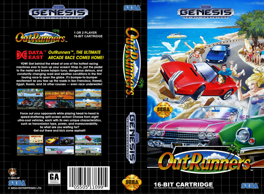 VHS Genesis| OutRunners - Cover Art V2 (USA) by Neo-the-Hedgefox