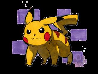 Pikachu by Kitten-Draws