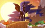 Nightmare Moon sundown eclipse