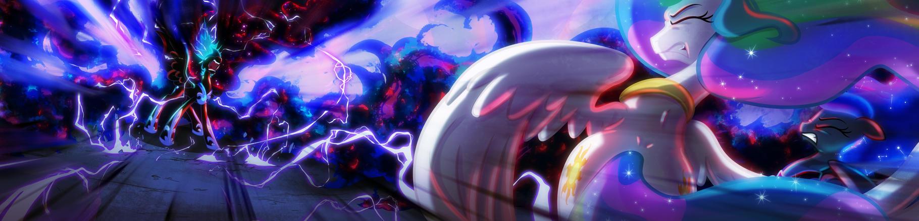 [Lumic4 - Lum and Light] Nightmare Moon Roar by Light262