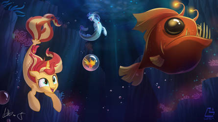 Sunset and Sonata Under the sea - by Lum and Light