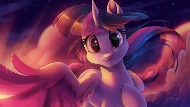Twilight Sparkle tenderness by Light