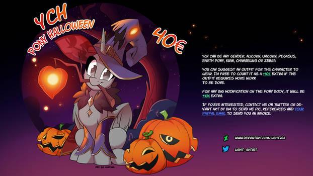 03- YCH Pony Halloween02 2021 -by Light262
