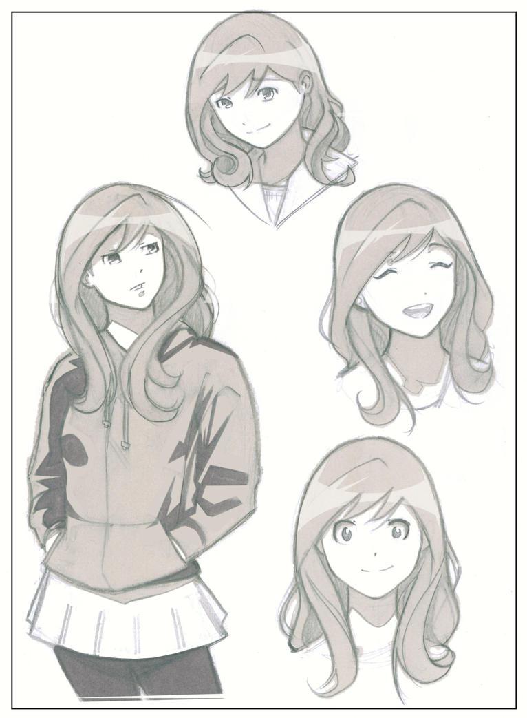 Female Cartoon Character Design : Female character design by michaelcrichlow on deviantart