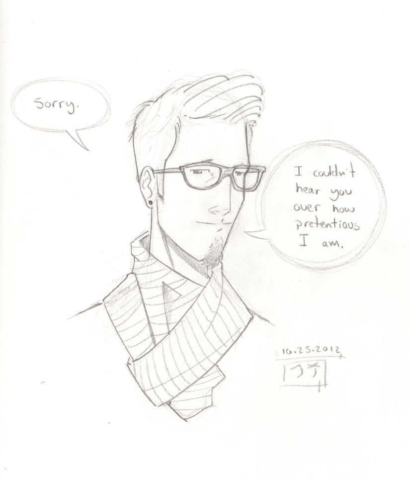 Hipster Dude - Sketch by MichaelCrichlow on DeviantArt