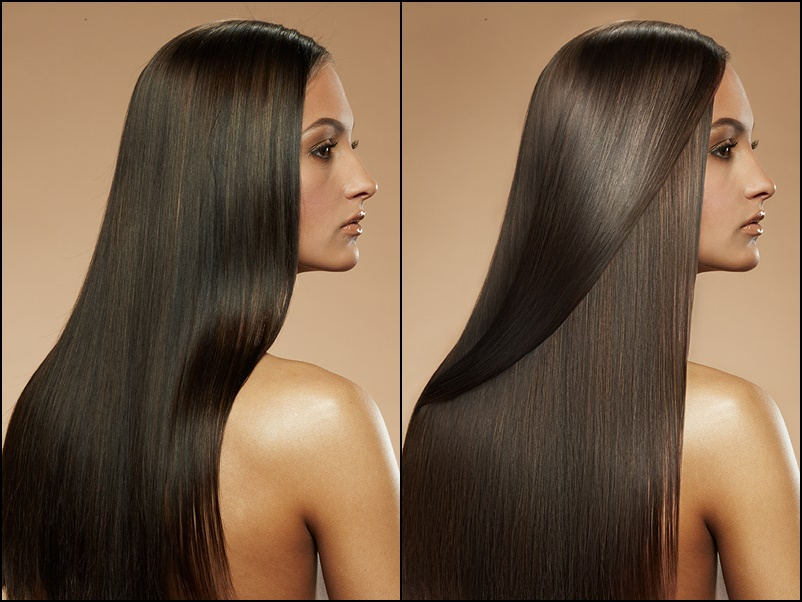 Straight Hair Retouch Practice - before and after by EmotionalLadyy