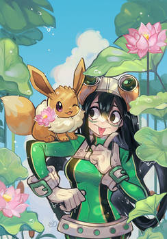 Froppy x Eeveee Commission