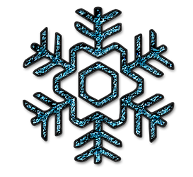 KarenPhoto Glitter Blue Snowflakes3 by KarenPhoto70
