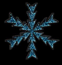 KarenPhoto Glitter Blue Snowflakes4 by KarenPhoto70
