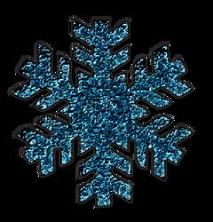 KarenPhoto Glitter Blue Snowflakes5 by KarenPhoto70