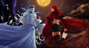 Queen of Icy Forest and Little Red Riding Hood by Getsuart