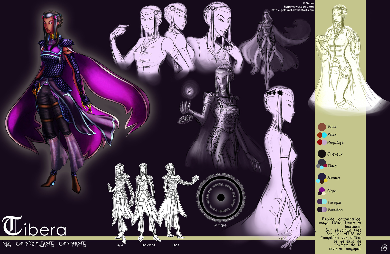 Character design : Tibera by Getsuart