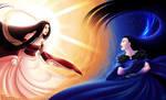 Amaterasu and Nyx by Getsuart