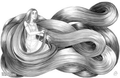 Chandra's long hair
