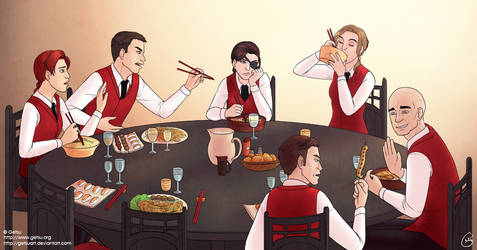 Commission : At the restaurant