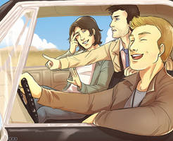 On the road with Team Free Will by thatoddowl
