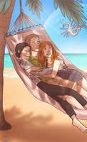 2 - Cuddling on an alien beach