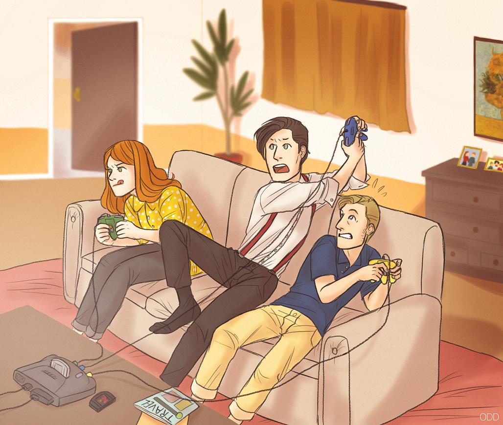 3 - Gaming by thatoddowl