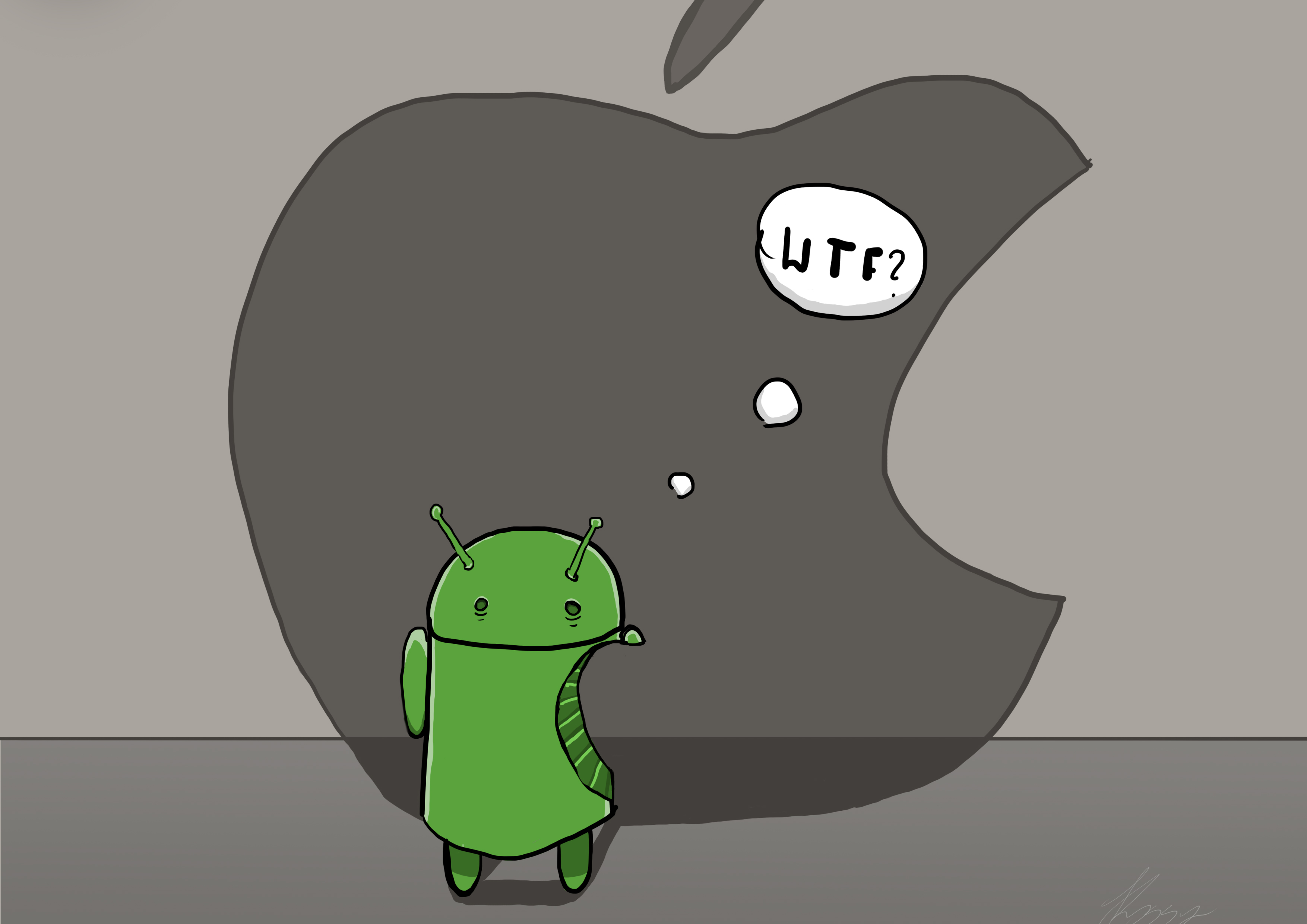 Android Vs Apple By Draco12343 On Deviantart