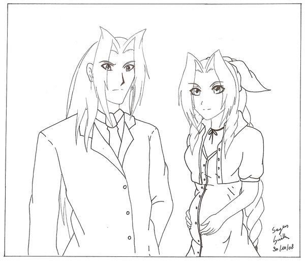 Sephiroth X Aeris pregnant by Seto01