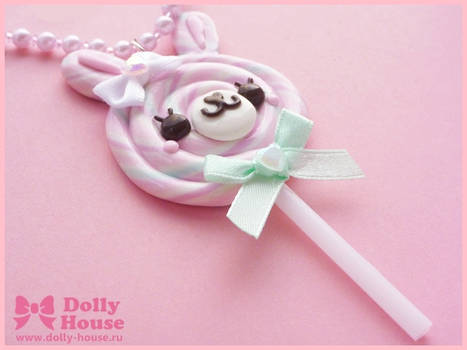 Lollipop Bunny Necklace by Dolly House
