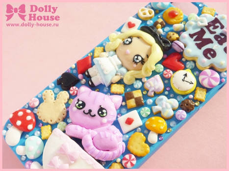 iPhone 5 case -Alice in Wonderland tea party- by D