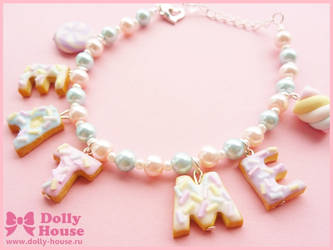 Cute Bracelet -Eat Me Cookies- by Dolly House by SweetDollyHouse