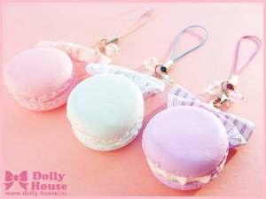 Kawaii strap Pastel Macaroons by Dolly House