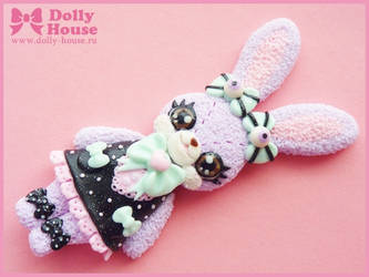 Pastel Goth Bunny Necklace by Dolly House by SweetDollyHouse