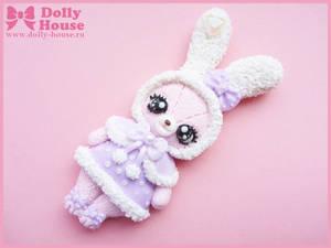 Angelic Winter Bunny Brooch