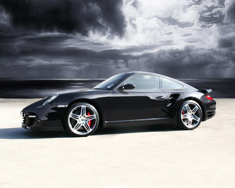 Sexy Black Porsche Turbo by jamodu