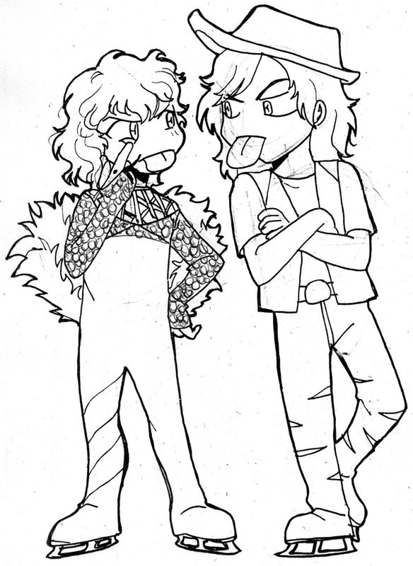 Blades of glory coloring pages ~ Blades of Glory: Sworn Enemies by claudiakat on DeviantArt