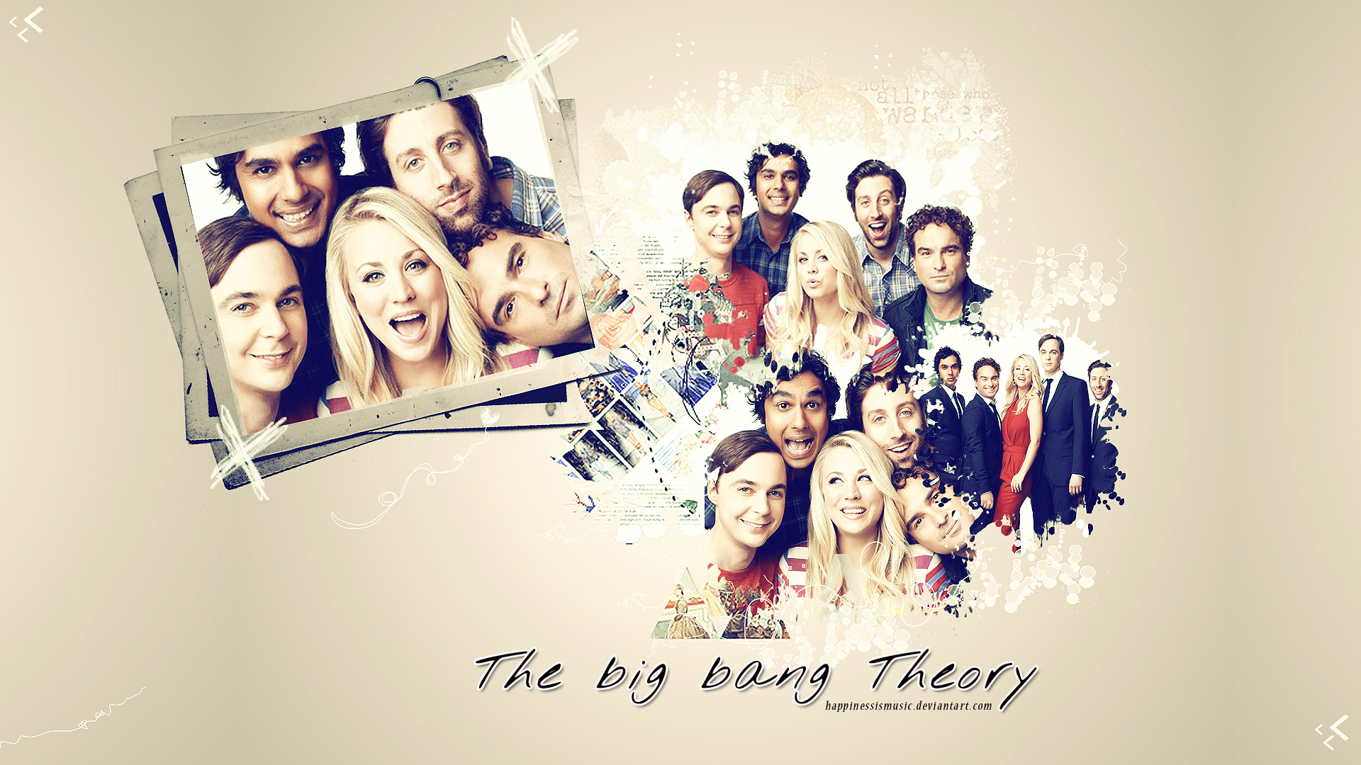 The cast of the big bang theory wallpaper by HappinessIsMusic