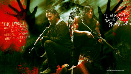 Rick Grimes and Daryl dixon wallpaper 02 by HappinessIsMusic