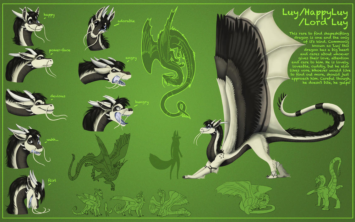 HappyLuy - The noodly dragon - Ref Sheet by HappyLuy