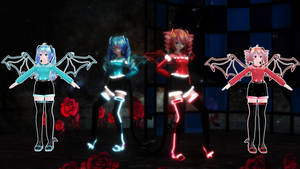 MMD NC: Cyber Devil Teto and Miku [Downloads]