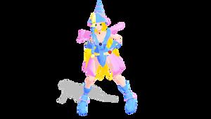 Dark Magician Girl WIP3: Skirt physics!