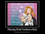 Playing with Toushiro's hair