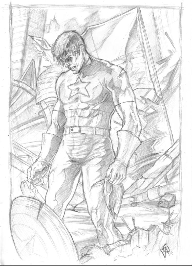 Hero's defeat- Capitan America by Ammis-miana