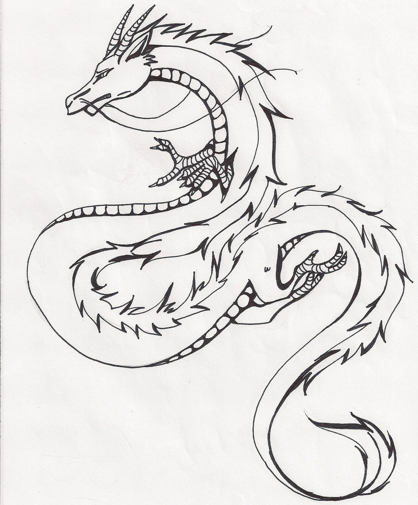 chinese dragon drawing easy - photo #3
