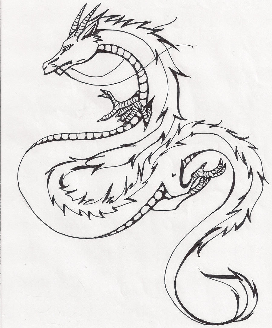 Dragon Line Drawing Easy : Chinese dragon by watermelonxd on deviantart