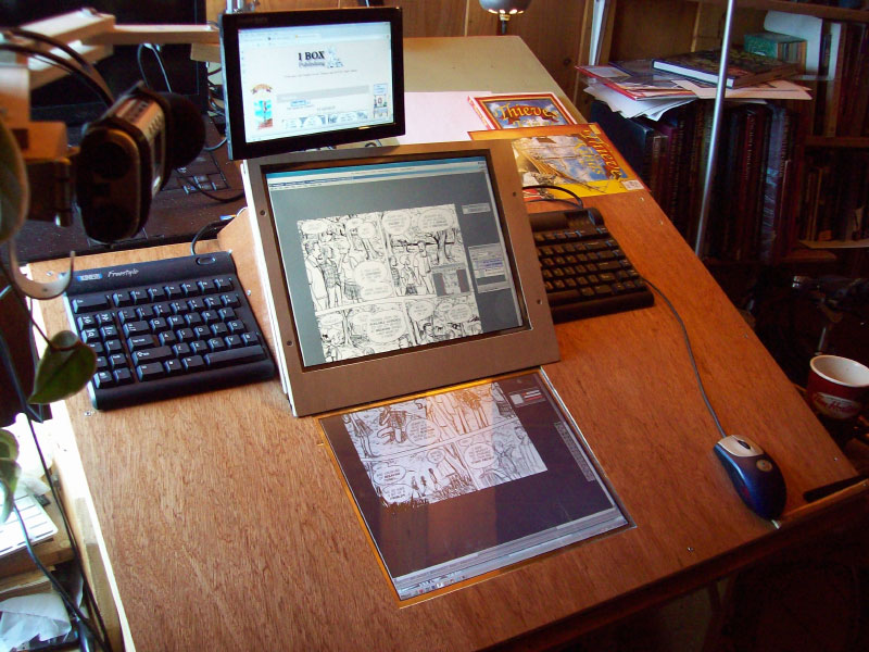 These Days No Picture At Present I Just Bolted A Sheet Of Plywood To The Back My Cintiq 21ux Using Bolt Holes Where Regular Stand Normally