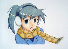 Girl in the winter