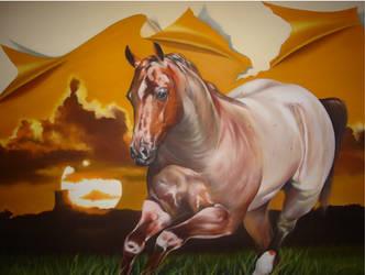 Horse 'Quarto de milha'