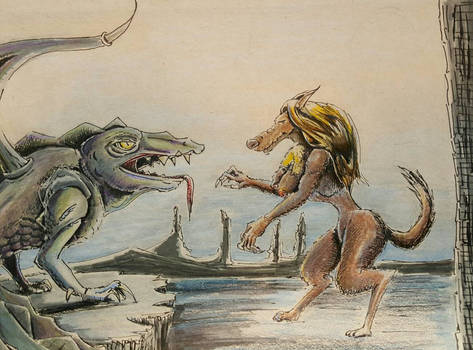 werewolf vs land dragon