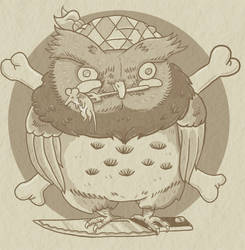 Owl Pirate Cook by atomier